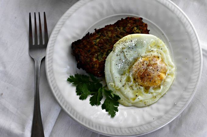 Tapas Tuesday: Zucchini Fritters with Fried Egg