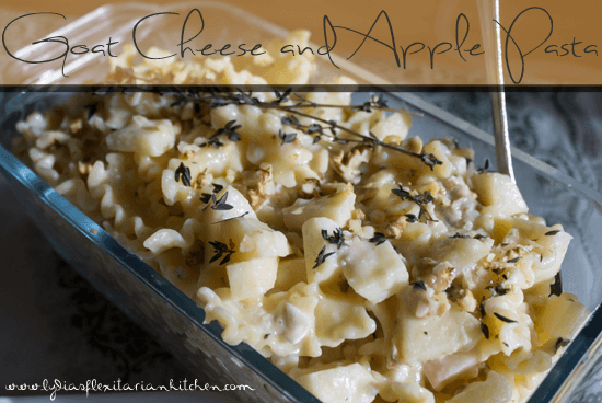 Goat cheese and apple pasta