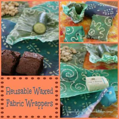 Reusable Waxed Fabric Wrappers ~ Lydia's Flexitarian Kitchen