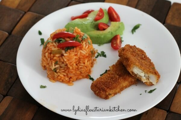 Real Solutions Fillets with Mexican Rice ~ Lydia's Flexitarian Kitchen