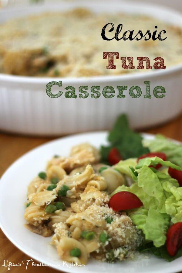 Classic Tuna Casserole ~ Lydia's Flexitarian Kitchen