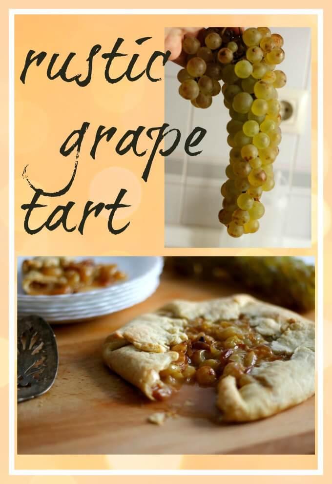 Rustic Grape Tart ~ Lydia's Flexitarian Kitchen