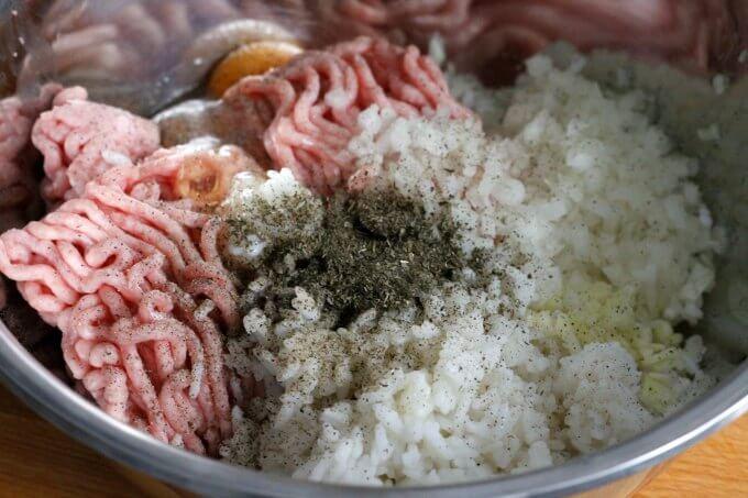 Chicken Meatballs with Hierbabuena ~ Lydia's Flexitarian Kitchen