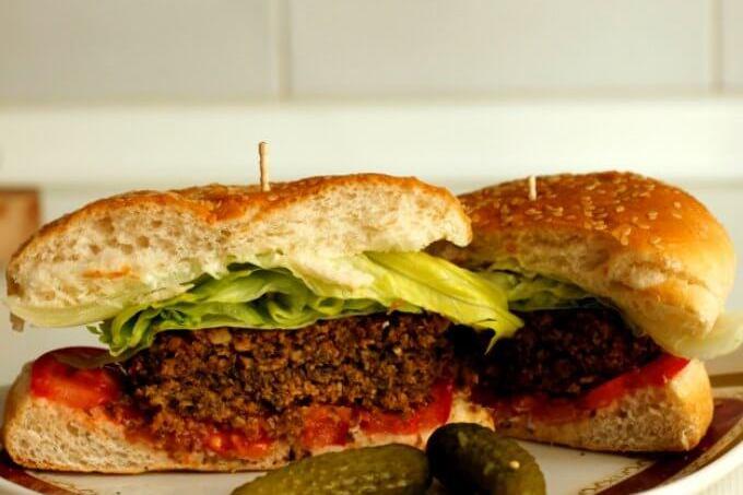 Meatless Monday: Mushroom & Nut Burgers