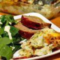 Cheesy Broccoli Potato Casserole {Recipe ReDux} ~ Lydia's Flexitarian Kitchen