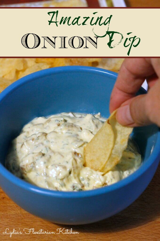 Amazing Onion Dip ~ Lydia's Flexitarian Kitchen