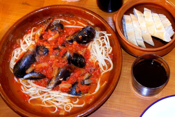 Mussels in Tomato Sauce
