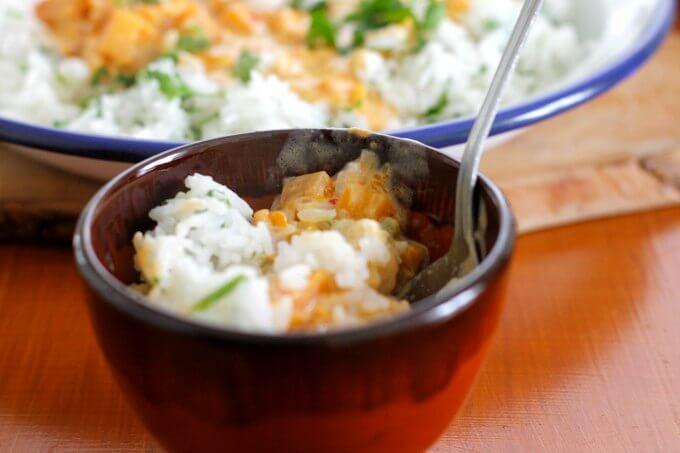 Quibebe~Butternut Squash Stew from Brazil~Lydia's Flexitarian Kitchen