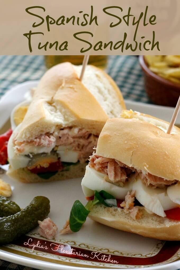 Tuna Sandwich Rosquita Style ~ Lydia's Flexitarian Kitchen