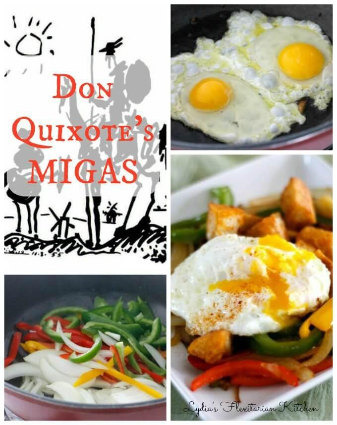 Don Quixote's Migas ~ April 23 World Book Day ~ Lydia's Flexitarian Kitchen
