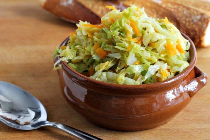 Spicy Steamed Cabbage ~ Meatless Monday ~ Lydia's Flexitarian Kitchen