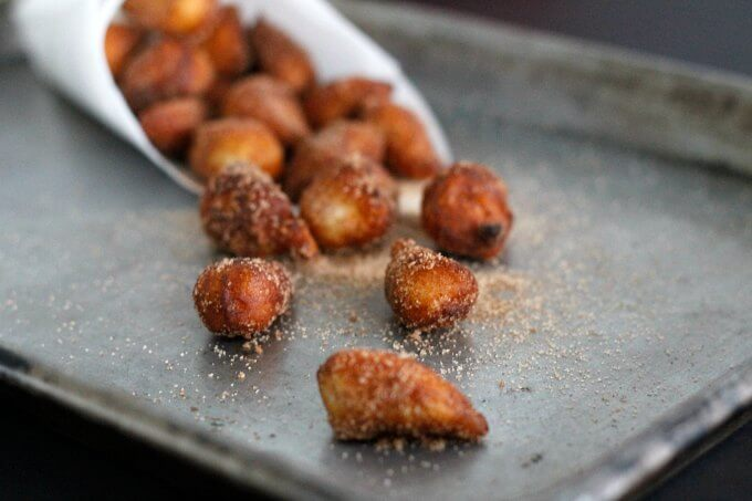 Fried Biscuits with Cinnamon Sugar ~ National Donut Day ~ Lydia's Flexitarian Kitchen