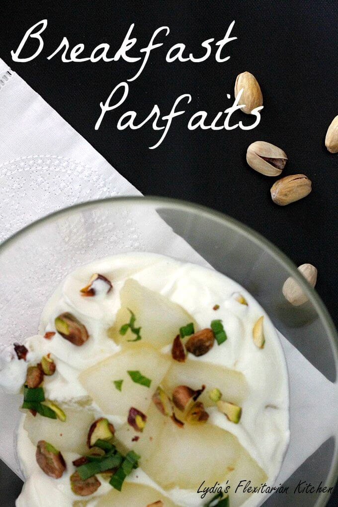 Fruit & Yogurt Breakfast Parfaits ~ Lydia's Flexitarian Kitchen