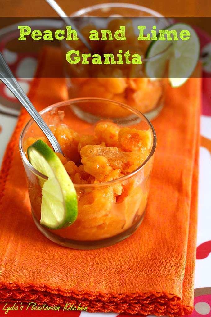 Peach Granita ~ Three Ingredient Frozen Treat ~ Lydia's Flexitarian Kitchen