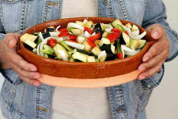Pisto de Berenjena ~ Roasted Summer Vegetables ~ Lydia's Flexitarian Kitchen