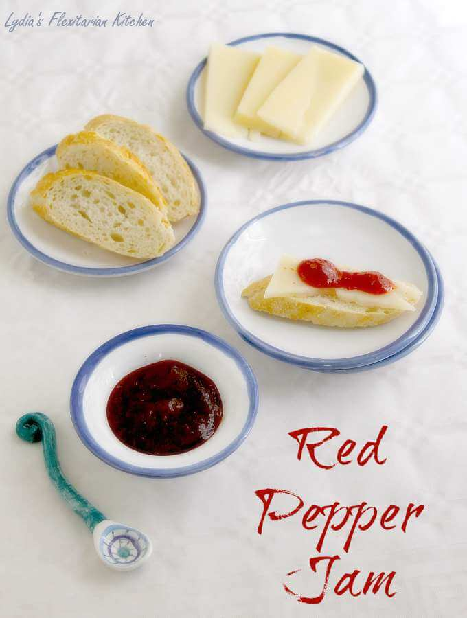 Red Pepper Jam ~ Confitura de Pimientos ~ Lydia's Flexitarian Kitchen