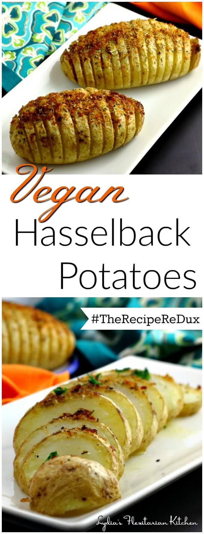 Vegan Hasselback Potatoes ~ Lydia's Flexitarian Kitchen