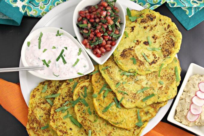 Chickpea Crepes with Three Toppings ~ Vegan Friendly and Gluten Free ~ Lydia's Flexitarian Kitchen