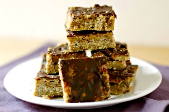 Praline Bars ~ A Decadent Treat for the Holidays ~ Lydia's Flexitarian Kitchen