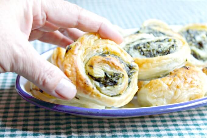 Spinach and Feta Spirals