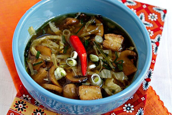 Hot and Sour Soup ~ Lydia's Flexitarian Kitchen