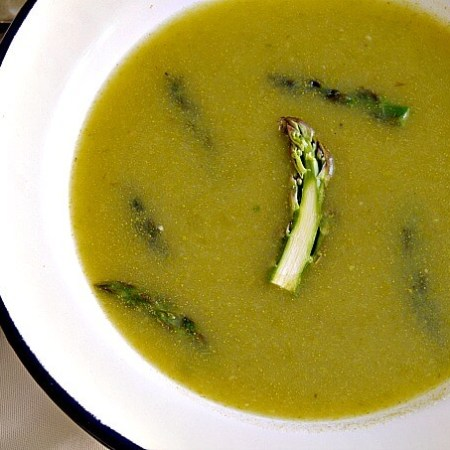 Spring Asparagus and Potato Soup ~ Lydia's Flexitarian Kitchen
