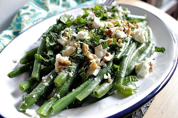 Green Beans with Walnuts and Feta