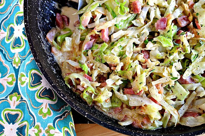 Quick Cabbage Alfredo Skillet