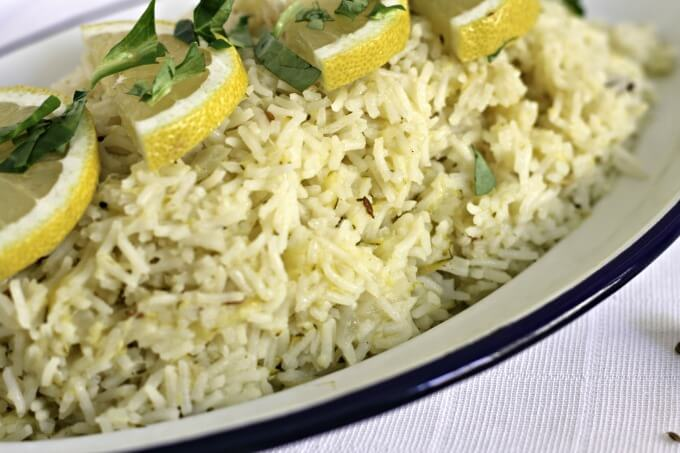 Zucchini Rice with Lemon and Cumin ~ Fragrant and Flavorful ~ Lydia's Flexitarian Kitchen