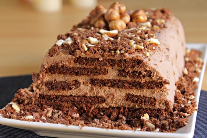 Coffee & Hazelnut Icebox Cake ~ I Heart Cooking Clubs ~ Lydia's Flexitarian Kitchen
