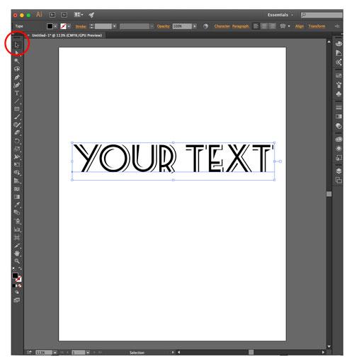 illustrator convert font to