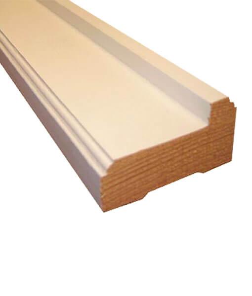 Marcos de madera para puertas econ micos blanco for Marcos de madera para puertas