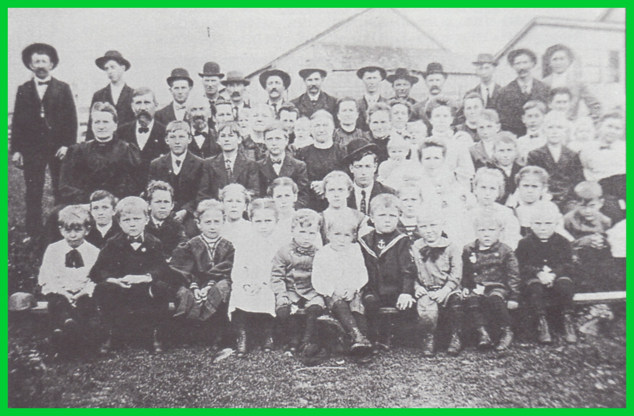 An Undated Photograph Of A Scheib Family Reunion Probably Held In Gratz Or Lykens Township Dauphin County Pennsylvania Because Many The People