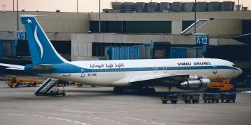 Somali Airlines Boeing 707-338C 6O-SBN /  Creative Commons Attribution 2.0 Generic /  Kambui