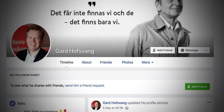 BILDE: Skjermdump fra Facebook.