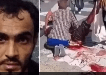 T.v: Terroristen Sultan Marmed Niazi. T.h. Åsted. Faksimile Facebook