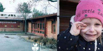 Ved Kvarnbäcksskolan i Haninge kommune har det forekommet mobbing mot svenske barn fordi de spiser svinekjøtt og ikkemuslimsk personal har fått motta kjeft fordi de ikke bærer slør. Foto: Haninge kommun/Illustrasjonsbilde-Pixabay
