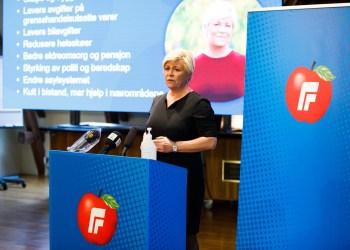 Leder av FrP, Siv Jensen - (Foto: Stortinget (CC BY-NC-ND 2.0)).