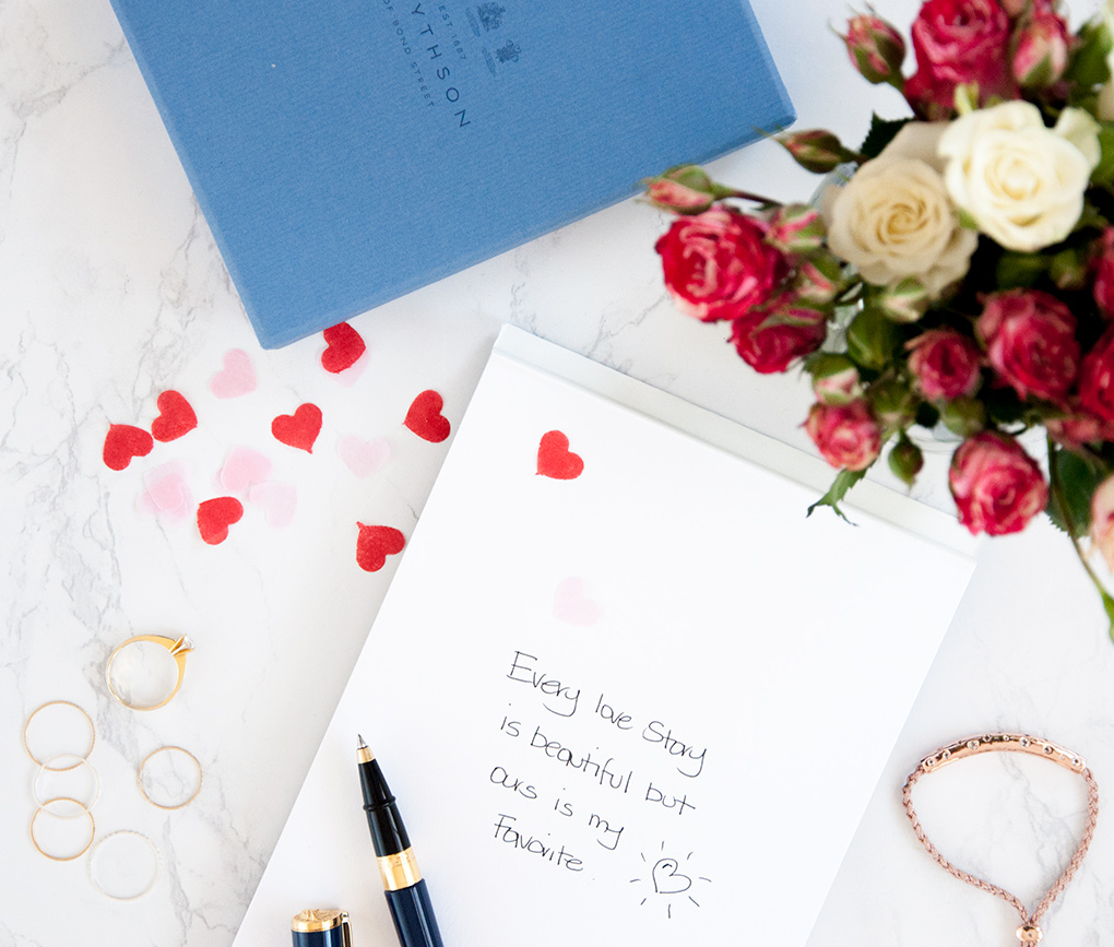 love notes with smythson for valentines day