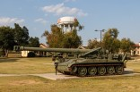 M110 8in (203mm) Howitzer with the big Ft Sill water tower in the background.