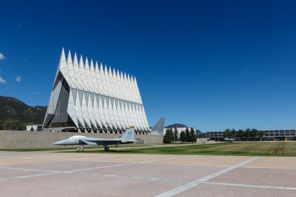 Lunchtime Walk Around the Cadet Area at USAFA