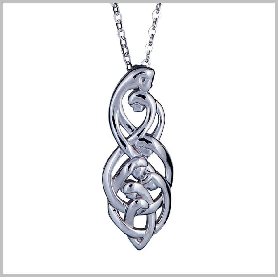 Celtic Family Knot Pendant Family Of Seven