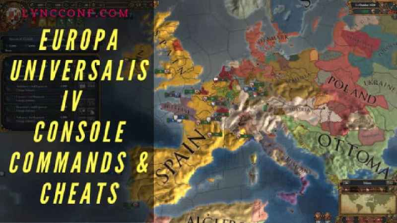 Europa Universalis IV Console Commands