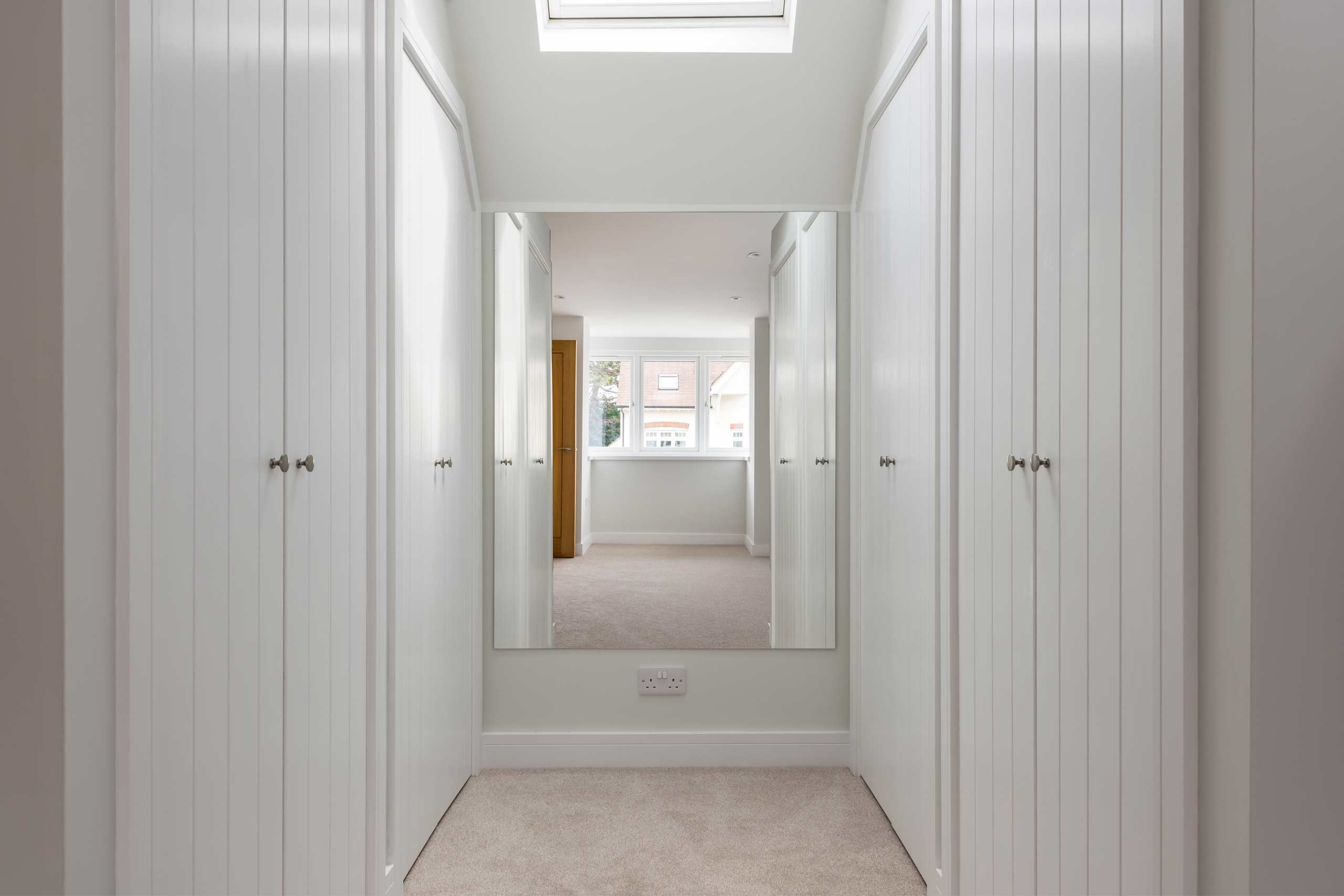 Newly installed cupboards, an example of bespoke carpentry and joinery in Oxfordshire