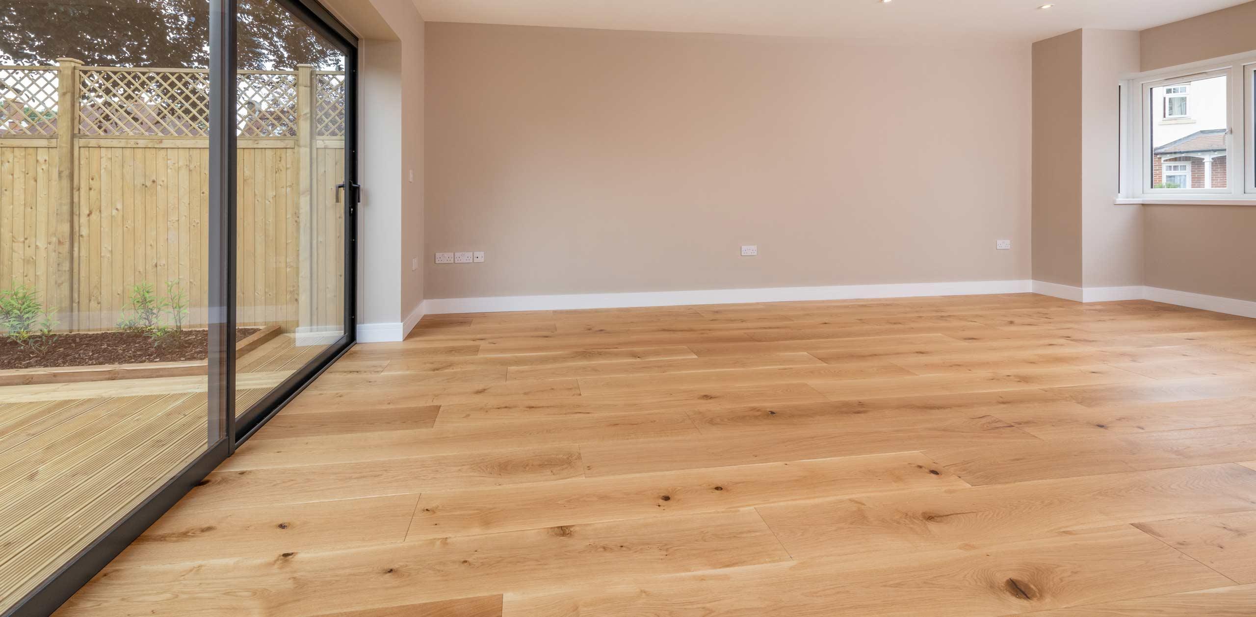 newly laid hardwood floor