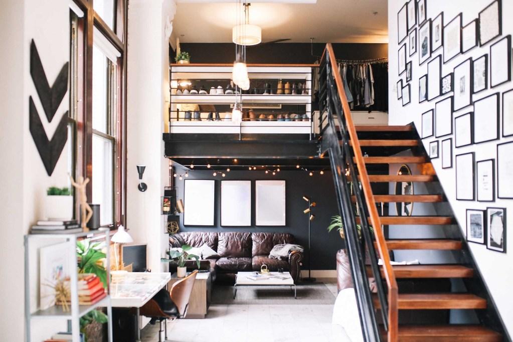 Cozy loft apartment interior in Downtown Los Angeles