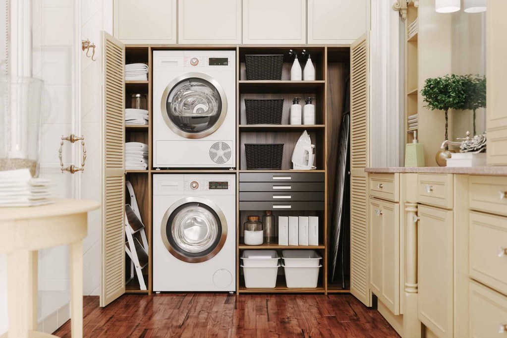 Interior Of A Modern Laundry Room