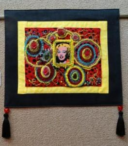 Marilyn (Icon) Fabric and Bead Working