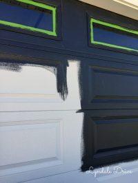 Got Paint? Painting the Garage Door Black