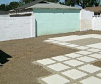 Painting outdoor concrete walls - Lynda Makara